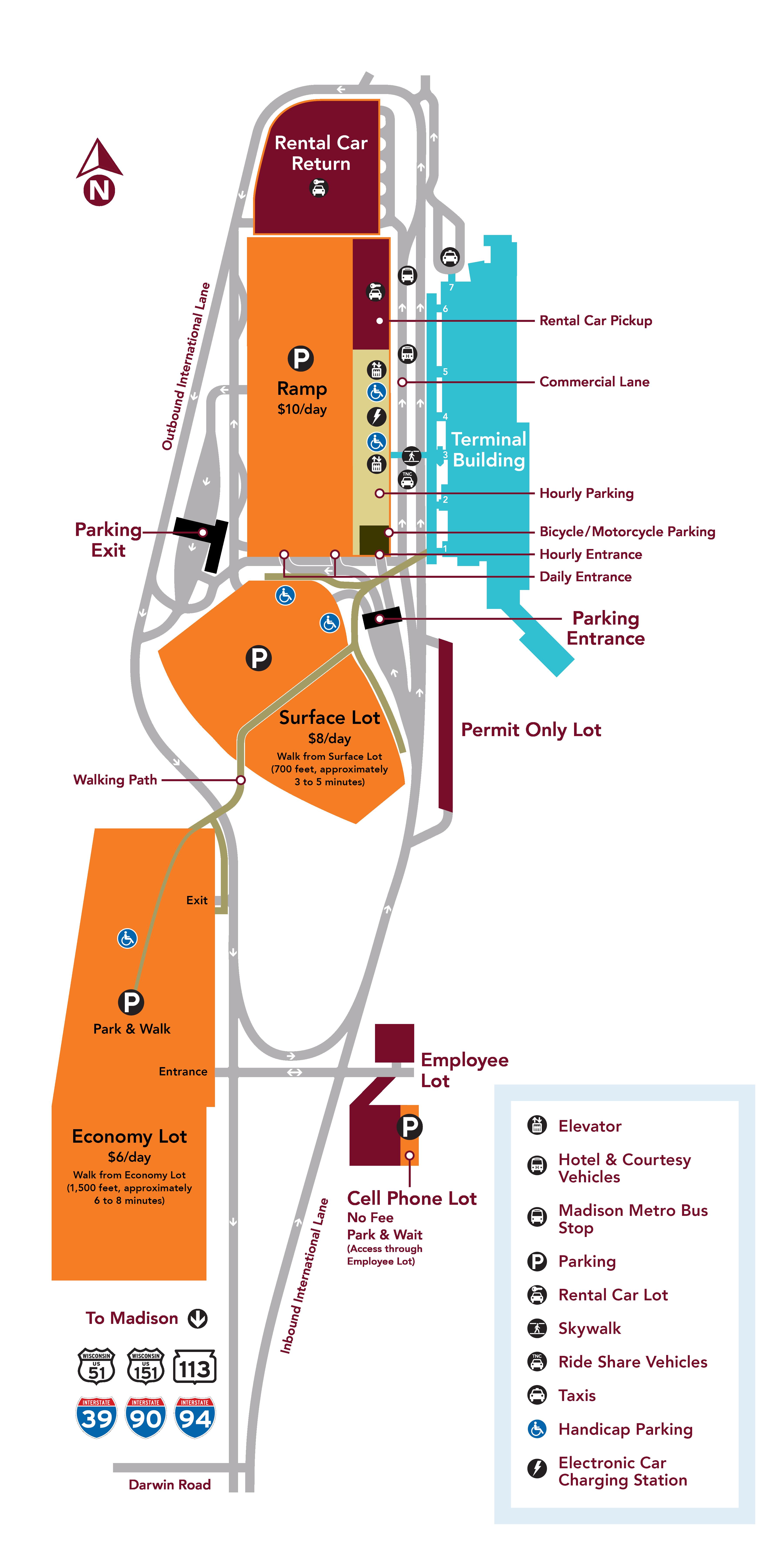 Madison Metro Map.Parking Area Map